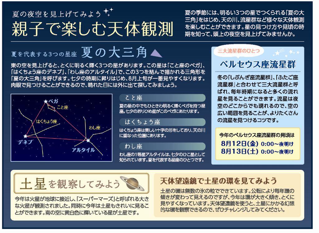 ニュースレター 天体観測