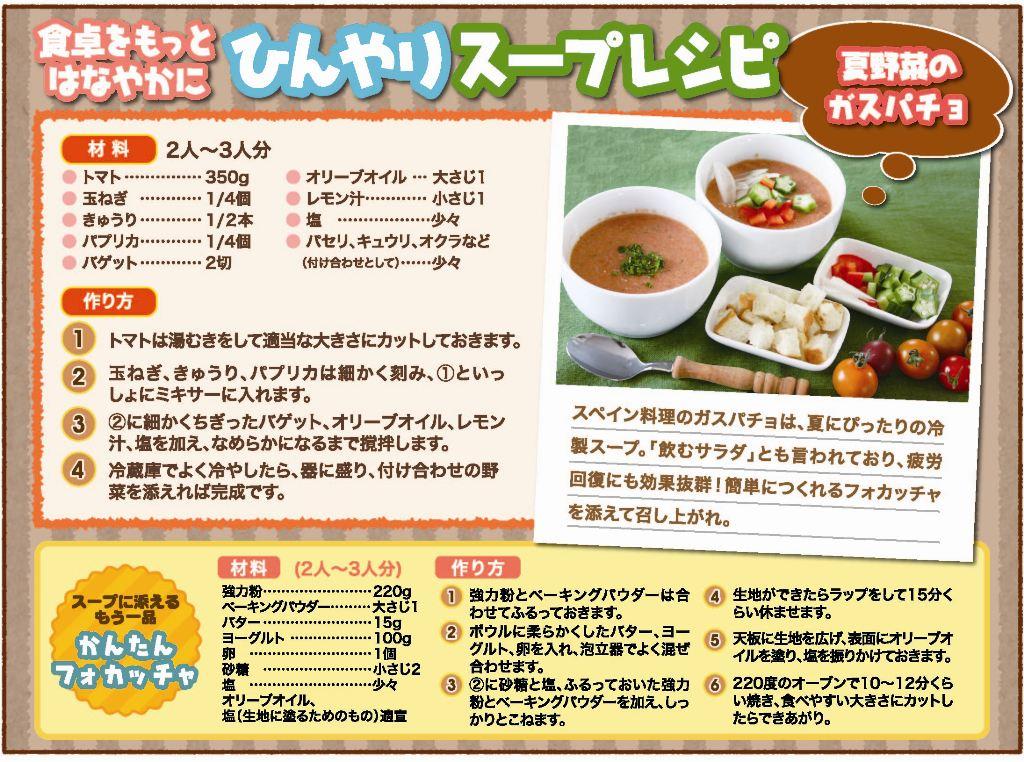 ニュースレター レシピ